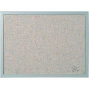 "MasterVision Fabric Corkboard 18x24"" Gray Frame"