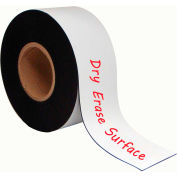 """MasterVision White Magnetic Write-on wipe-off Tape Rolls 3""""x 50 ft."""