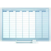 """MasterVision Magnetic Weekly Planner, Steel Surface, 36""""W x 24""""H"""
