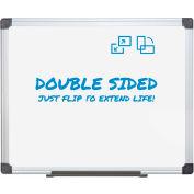 "MasterVision Melamine Dry Erase White Board, 60"" x 36"""