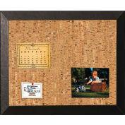 "MasterVision Natural Corkboard Black Kamashi Frame 18x24"""