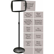 """MasterVision Adjustable Sign Stand, 15""""W x 65""""H"""