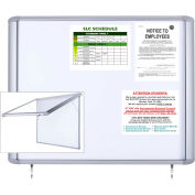 "MasterVision H2O Outdoor Magnetic Dry Erase Enclosed Board, 26""W x 30""H"