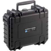 """B&W Type 500 Small Outdoor Waterproof Case w/o Foam Insert 8-3/4""""L x 7""""W x 3-1/2H - Black"""