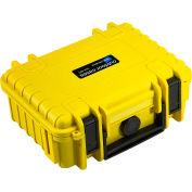 """B&W Type 500 Small Outdoor Waterproof Case W/ Sponge Insert Foam 8-3/4""""L x 7""""W x 3-1/2H, Yellow"""