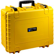 "B&W Type 6000 Medium Outdoor Waterproof Case W/ Sponge Insert Foam 20""L x 16-1/2""W x 8-1/2H, Yellow"