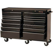 "Blackhawk™ By Proto® 95414R 54"" Roller Cabinet, 14 Drawer, Black"
