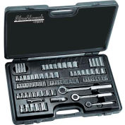 "Blackhawk 9782-B 1/4"", 3/8"" and 1/2"" Drive 82 Piece Combination Socket Set"