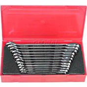 Blackhawk BW-1450 12 Piece Metric Rev. Ratcheting Combo Wrench Set, 12 Point