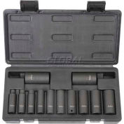 "Blackhawk U-1512DS 3/8"" Drive 12 Piece Deep Impact Socket Set, 6 Point"