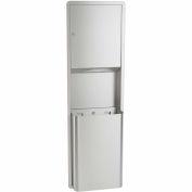 Bradley Multi-Fold Towel Dispenser/Waste Receptacle 12 Gal, Recessed Stainless Steel 234-000000