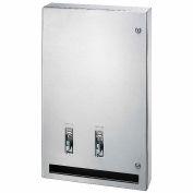 Bradley Napkin/Tampon Dispenser 25¢, Surface Mount Stainless Steel - 407-114500