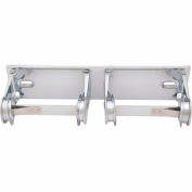 Bradley Standard Toilet Tissue Dispenser Dual Roll, Horizontal Stainless Steel - 5224-000000 - Pkg Qty 7