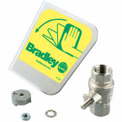 "Bradley® S30-070 1/2"" Ball Valve/Handle Prepack, Stainless Steel Handle Kit"