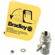 """Bradley® S45-122 1/2"""" Ball Valve/Plastic Handle Prepack"""