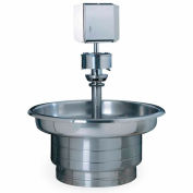 Bradley S93-532 Stainless Steel 5 Person Classic Washfountain W/ Foot Bar
