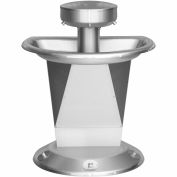 Bradley S93-628 Sentry 3 Person Semi-Circular Washfountain W/Foot Control Hold-Open Air Valve