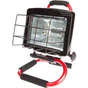 Bayco® Portable Halogen Work Light Sl-1032, 6'L Cord, 18/3 Ga, Red - Pkg Qty 2