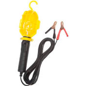 Bayco® Emergency Light With Battery Clips Sl-412, 20'L Cord, 18/2 Ga, Black/Yellow - Pkg Qty 6