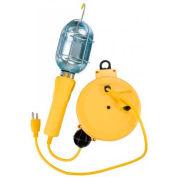 Bayco® Standard Trouble Light W/Tap, SL-450, Retractable Reel, 20'L Cord, 18/3 GA, Yellow, 6-PK - Pkg Qty 6