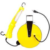 Bayco® Angle Fluorescent Work Light W/Tool Tap SL-821, 40'L Cord, 16/3 GA, YW, 4-PK - Pkg Qty 4