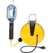 Bayco® Metal Shield Incandescent Utility Light W/Tool Tap SL-851, 50'L Cord, Yellow/Black, 4-PK - Pkg Qty 4