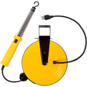 Bayco® 60 LED Work Light SL-864, 50'L, Cord Reel, 50'L Cord, 18/2 GA, Yellow