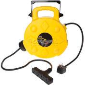 Bayco® Professional Quad-Tap Extension Cord SL-8904, 50'L Cord, 12/3 GA