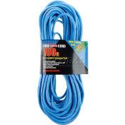 Bayco® SL-995 100'L Single-Tap All Season Extension Cord w/Lighted End,OSHA NRTL 14/3 GA, Blue  - Pkg Qty 6