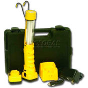 Bayco® Professional Cordless Fluorescent Work Light Kit In Molded Case SLR-9010, Yellow