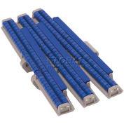 "HabaCHAIN, 882, Low-Back-Pressure Chain w/Sliding Blocks, Radius, HD, Tabbed, LF Acetal, 5'L, 12""W"