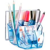 CEP Desktop Organizer with 8 Compartments Blue tint