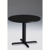"""Safco® Bistro Series 30"""" Round Dining Height Restaurant Table W/Black Base, Black"""