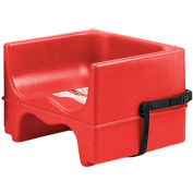 Cambro 100BCS158 - Booster Seat, Single Height, Polyethylene, w/Strap, Hot Red - Pkg Qty 4