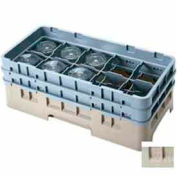 "Cambro 10HS318184 - Camrack  Glass Rack 10 Compartments 3-5/8"" Max. Height, Beige, NSF - Pkg Qty 5"