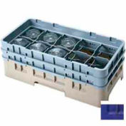 "Cambro 10HS434186 - Camrack  Glass Rack 10 Compartments 5-1/4"" Max. Height Navy Blue NSF - Pkg Qty 4"