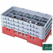 "Cambro 10HS638119 - Camrack  Glass Rack 10 Compartments 6-7/8"" Max. Height Sherwood Green NSF - Pkg Qty 3"