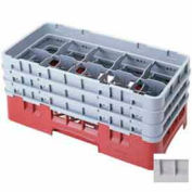 "Cambro 10HS638151 - Camrack  Glass Rack 10 Compartments 6-7/8"" Max. Height Soft Gray NSF - Pkg Qty 3"