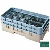 """Cambro 10HS800119 - Camrack  Glass Rack 10 Compartments 8-1/2"""" Max. Height Sherwood Green NSF - Pkg Qty 2"""