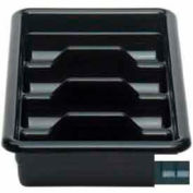 "Cambro 1120CBR110 - Cutlery Box, 4 Comp. 11-3/8""L x 20-7/16""W x 3-3/4""H, Hi-Impact Plastic, Black - Pkg Qty 12"