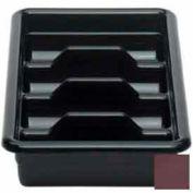 """Cambro 1120CBR131 - Cutlery Box, 4 Compartments, 11-3/8""""L x 20-7/16""""W x 3-3/4""""H, Dark Brown - Pkg Qty 12"""
