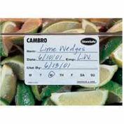 "Cambro 1252SLB250 - Food Rotation Label, 1-1/4"" x 2"", 100% Biodegradable, White - Pkg Qty 24"