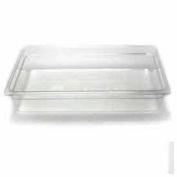 "Cambro 14CW135 - Camwear Food Pan, Plastic, Full Size, 4"" Deep, Polycarbonate, Clear, NSF - Pkg Qty 6"
