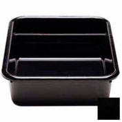 "Cambro 1621CBP110 - Cambox 2 Compartments, 15-5/8""L x 20-1/2""W x 4-7/8""H, Hi-Gloss Plastic, Black - Pkg Qty 12"