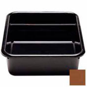 "Cambro 1621CBR131 - Cambox, 2 Compartments, 15-5/8""L x 20-1/2""W x 4-7/8""H,  Plastic, Dark Brown, - Pkg Qty 12"