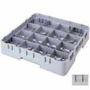 "Cambro 16S738151 - Camrack  Glass Rack 16 Compartments 7-3/4"" Max. Height Soft Gray NSF - Pkg Qty 3"