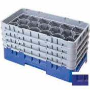 "Cambro 17HS318186 - Camrack  Glass Rack 17 Compartments 3-5/8"" Max. Height Navy Blue NSF - Pkg Qty 5"