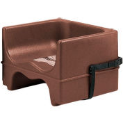 Cambro 200BCS131 - Booster Seat, Dual Height, Polyethylene, w/Strap, Dark Brown - Pkg Qty 4