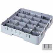 "Cambro 20C414151 - Camrack  Cup Rack 20 Compartments 4-1/4"" Max Height, Soft Gray, NSF - Pkg Qty 5"