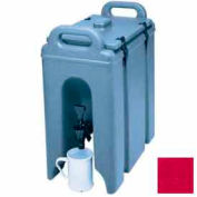 Cambro 250LCD158 - Camtainer Beverage Carrier, Insulated Plastic, 2-1/2 Gal., 16-1/2x9x18-3/8, Red